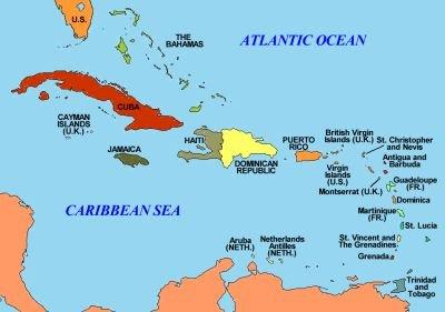 Map Of Caribbean Sea White - Antigua barbuda map caribbean sea