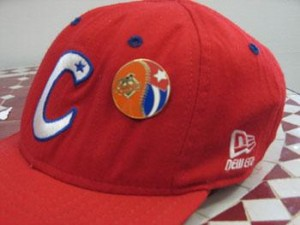 Cuban Baseball Cap with an offical pin from the game.