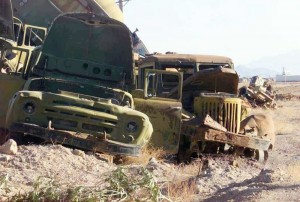 Soviet trucks - Afghanistan