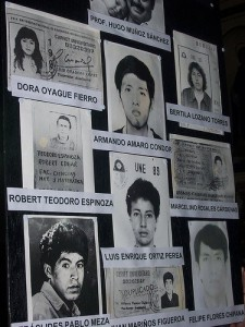 Photos of the Cantuta victims. Flickr photo under a CC license by The Advocacy.