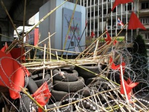 Thai barricade before crackdown. Credit: Andre Vltchek