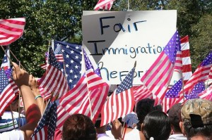 Immigration protest in Savannah. Flickr CC license: LW Prencipe