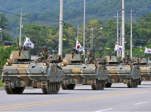 South Korean tanks on display
