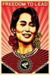 Portrait of Aung San Suu Kyi