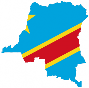 Flag map of the Congo. Credit: Wikimedia Commons