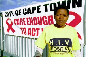 Gloria who is HIV positive in Khayelitsha township outside Cape Town where the Treatment Action Campaign (TAC) is holding an AIDS awareness campaign. Photo: Trevor Samson / World Bank