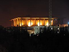 The Knesset at night