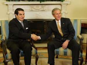 George W. Bush with Tunisian leader Ben Ali