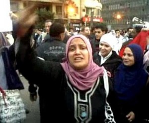 Women protesting in Egypt