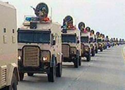 Gulf Cooperation Council troops entering Bahrain