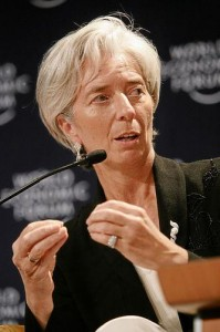 Christine Lagarde; photo by Remy Steinegger courtesy of World Economic Forum