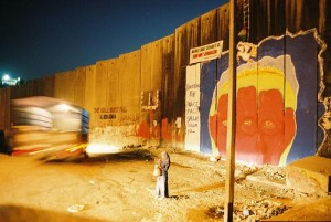 Abu Dis  The Wall at Dusk by Michael Keating; image courtesy of the Jerusalem Fund Gallery