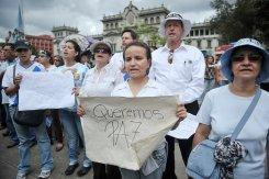 Guatemalans marching for Cabral