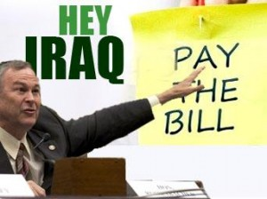 Dana Rohrabacher (R-CA) makes his demand; image courtesy of Veterans Today