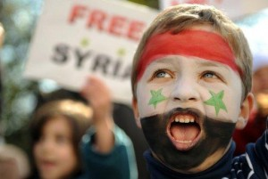 Protesting the Syrian repression
