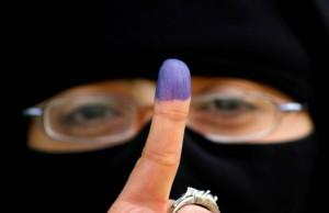 Woman voter in Egypt; photo courtesy of Ashraf Amra/APA