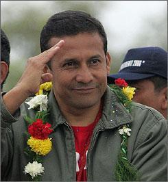 Peruvian leader Ollanta Humala