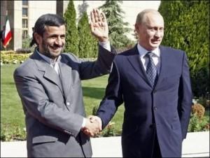 Russian Prime Minister Vladimir Putin meets Iranian President Mahmoud Ahmadinejad
