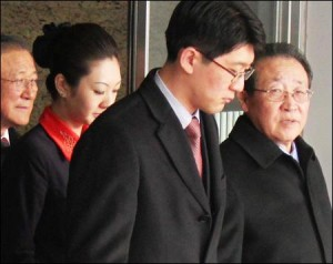 North Korean negotiator Kim Gye Gwan (far right)