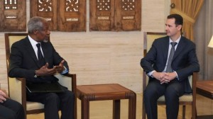 UN envoy Kofi Annan meets with Syrian leader Bashar al-Assad