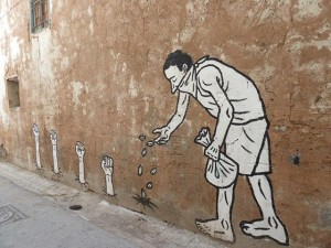 Revolutionary street art in Tunisia.