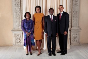President and Mrs. Obiang and friends.