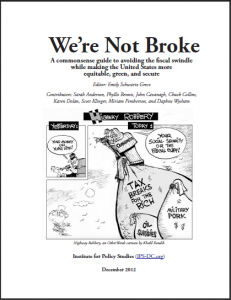 We're Not Broke report cover