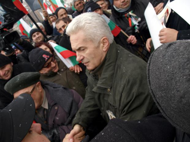 Volen Siderov, leader of Ataka. Photo by John Feffer.