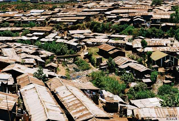 Nairobi's Kibera slum. Courtesy Wikimedia Commons
