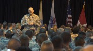 Gen. Odierno at Camp Lemonnier, Djibouti