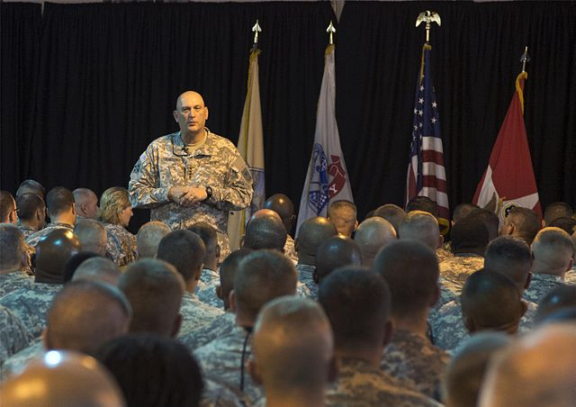 Gen. Odierno at Camp Lemonnier, Djibouti.  Wikimedia Commons