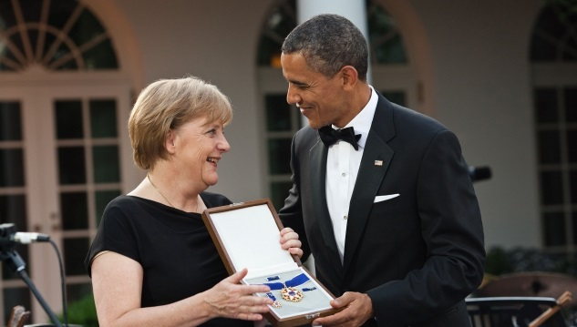 German Chancellor Merkel and President Obama in happier times. Courtesy Wikimedia Commons