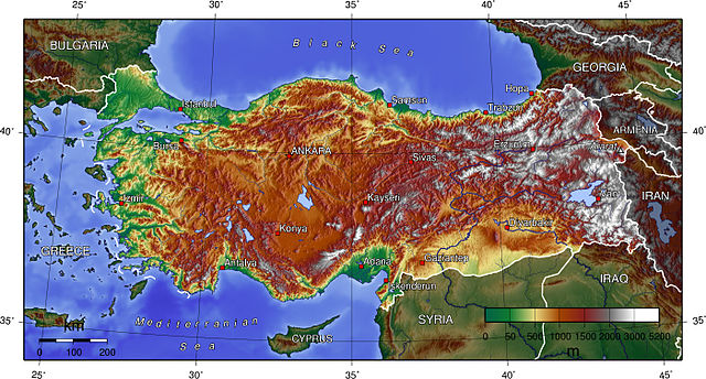 Turkey. Courtesy Wikimedia Commons