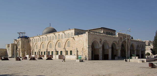 The Al-Aqsa Mosque in Jerusalem. Courtesy Wikimedia Commons
