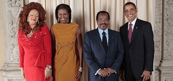 The Biyas and the Obamas. Courtesy Wikimedia Commons