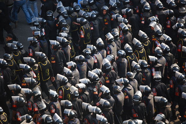 Egyptian security forces. Courtesy Wikimedia Commons