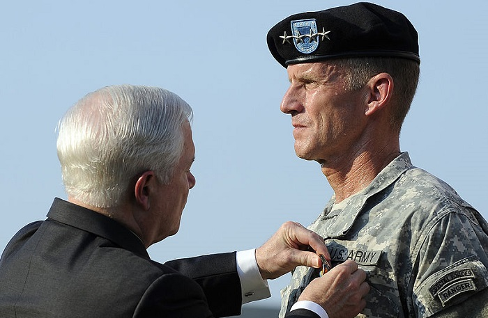 Gen. Stanley McChrystal, winner of the 2013 White Man's Burden award. Image, Wikimedia Commons