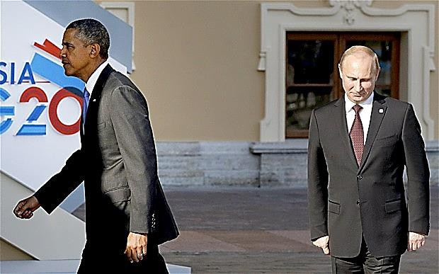 Presidents Obama and Putin