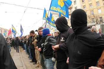 Svoboda demonstrating