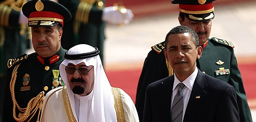 King Abdullah of Saudi Arabia and President Obama