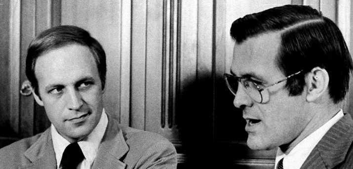 Dick Cheney and Donald Rumsfeld in 1975