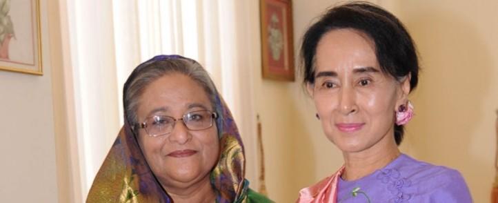 Bangladesh Prime Minister Sheikh Hasina and Aung San Suu Kyi