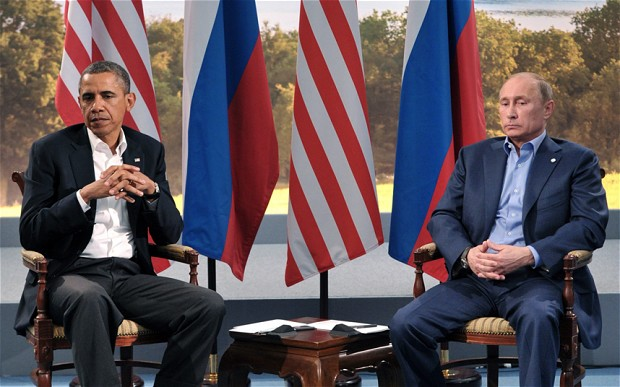 Obama and Putin don't see eye to eye on international law.