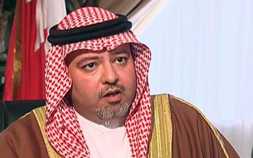 Bahraini Minister of Justice and Islamic affairs Khalid Bin Ali Bin Abdulla Al Khalifa