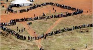 South African polling station