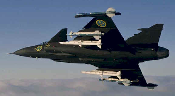 The Swedish-made Gripen that Swiss voters turned down.