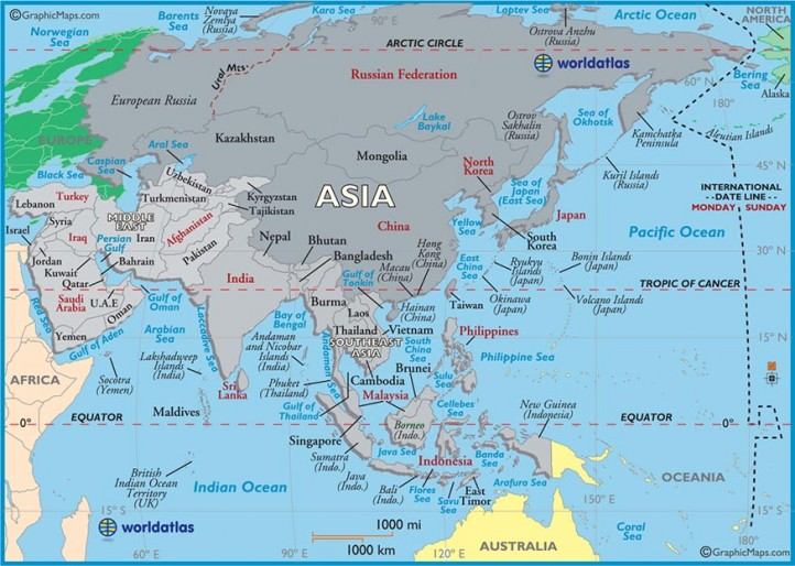China has claimed sovereignty over almost the entire South China Sea. (Image: World Atlas)