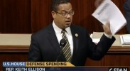 Rep Keith Ellison presents amendment to Congress on peace economy transitions, June 18 2014. (Photo: C-SPAN)