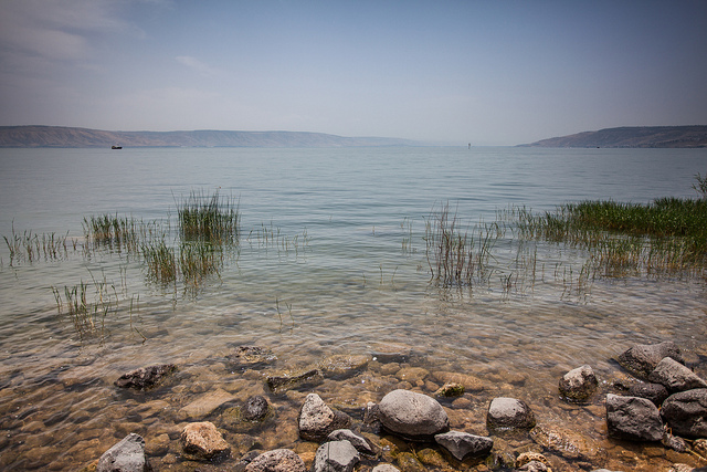The Sea of Galilee: stomping ground of Christ and his disciples. (Photo: Daniel Weber / Flickr)