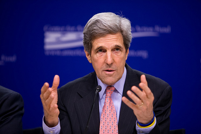 U.S. Secretary of State John Kerry opposes including Iran in the coalition aligned against the Islamic State. (Photo: Ralph Alswang / Flickr)